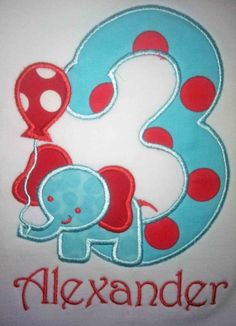 Standing Elephant Birthday Shirt or Onesie - Custom Monogrammed Twins 1st Birthdays, Elephant Birthday, Custom Made Shirts, Birthday Shirts, Sewing Crafts, Onesies, Monogram, Unique Jewelry, Handmade Gifts