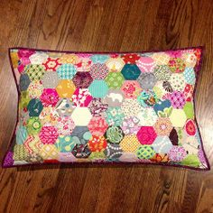 King size hexie pillow