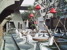 #戶外塑膠椅 Panton Chairs-Tea Work人水私房