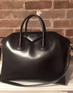 e0c63e9aff GIVENCHY Antigona Medium Black Leather Satchel Bag