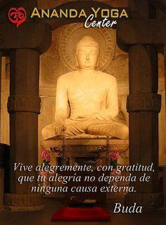 ... Vive alegremente, con gratitud, que tu alegría no dependa de ninguna causa externa. Buda.
