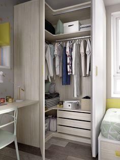 Corner Wardrobe, Wardrobe Room, Wardrobe Design Bedroom, Teen Bedroom Designs, Room Design Bedroom, Bedroom Furniture Design, Room Ideas Bedroom, Home Room Design, Small Room Bedroom