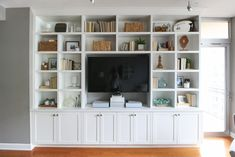 Built-In Bookcases and TV Unit - Living a Real Life White Furniture, Plywood Furniture, Cheap Furniture, Kitchen Furniture, Furniture Nyc, Furniture Removal, Discount Furniture, Custom Furniture, Luxury Furniture