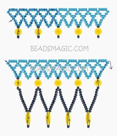 Free pattern for necklace JENNY | Beads Magic. Use: seed beads 11/0, round beads 6mm, rice beads (oval). Page 2 of 2