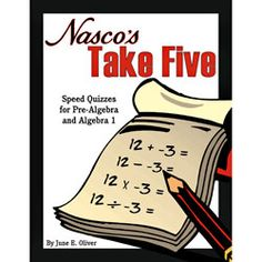 Nasco's Take Five Speed Quizzes for Pre-Algebra and Algebra 1 ~ Pre-Algebra ~ Activity Books