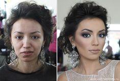 Milagres da Maquiagem - antes e depois - Incrível