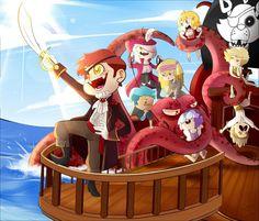 clasico fiesta en el barco de foxy y mangle