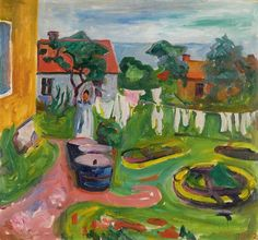 Edvard Munch Clothes on a Line in Asgardstrand 1902 Oil on canvas, 67.5 x 72.5 cm Private collectio