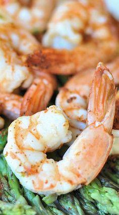 Steamed Shrimp & Asparagus (Instant Pot)