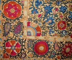 verall format of the small suzani, below, from Uzbekistan probably third quarter 19th centur