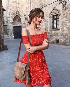 New Dress Red Beautiful Style Ideas Mode Outfits, Fall Outfits, Summer Outfits, Fashion Outfits, Summer Dresses, Picnic Outfits, Fashion Pics, Beach Dresses, Fashion Trends