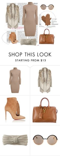"""Woow"" by mery66 ❤ liked on Polyvore featuring Rumour London, River Island, Christian Louboutin, Yves Saint Laurent, Aéropostale, Marc by Marc Jacobs and Isotoner"