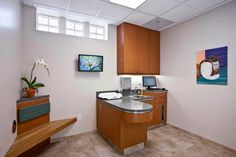 A veterinary hospital with a view - Hospital Design.  Nice exam room!