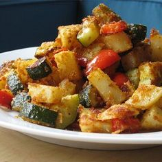 Zucchini and Potato Bake Vegetable Side Dishes, Side Dishes Easy, Side Dish Recipes, Tasty Dishes, Vegetable Recipes, Food Dishes, Vegetarian Recipes, Healthy Recipes, Skinny Recipes