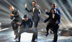 'NSYNC: VMAs 2013 Reunion Performance - WATCH NOW!: Photo It officially happened: 'NSYNC took the stage to reunite with Justin Timberlake at the 2013 MTV Video Music Awards held at the Barclays Center on Sunday (August… Mtv Video Music Award, Music Awards, Robin Thicke, Justin Timberlake Nsync, Joey Fatone, Web Design, Mtv Videos, Music Videos, Backstreet Boys