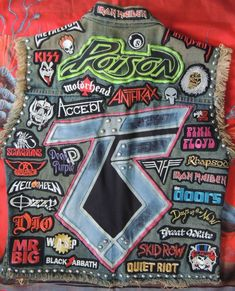 Post pics of the best/worst Battle Jackets and ILM will mark them out of 10 Black Denim Vest, Denim Vests, Black Blazers, Stylish Eve Outfits, Rock Outfits, Edgy Outfits, Punk Jackets, Cool Jackets, Hair Metal Bands