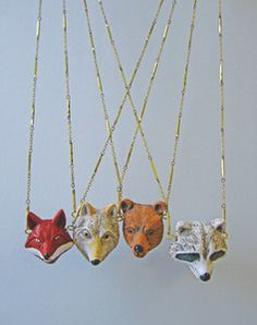 Image of Totem - Forest Animal Necklace