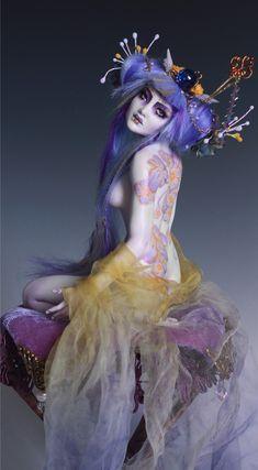 Floral Tattoo Geisha OOAK Pin Up by Nicole West | eBay