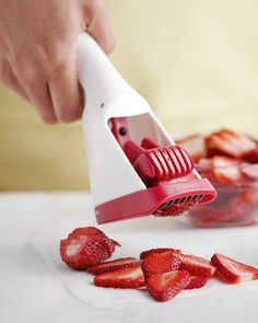 Strawberry Slicer .. Got it as a gift and it is now a staple!