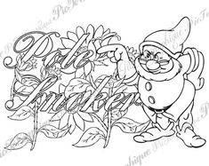 Coloring Page Ple Smker from Sweary Colouring Swearing Coloring Book, Swear Word Coloring Book, Love Coloring Pages, Printable Adult Coloring Pages, Coloring Books, Free Coloring, Coloring Sheets, 7 Dwarfs, Colorful Drawings