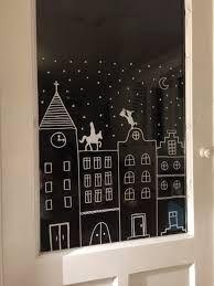 Bildergebnis für winterfenster kreide Christmas Makes, Christmas Time, Christmas Crafts, Holiday, Christmas Village Houses, Christmas Villages, Window Markers, Window Art, Diy Weihnachten