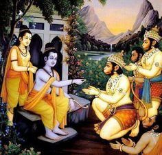 Ram sending mudrika(ring)...for sita..with Hanuman