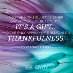 Gratitude has the power to transform your life.