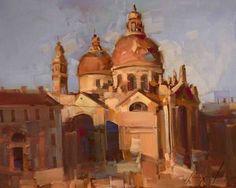 Venice Architecture & Cityscape Original oil Painting Handmade art on Canvas