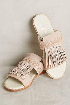 2fccc7cfbd1c Liebeskind Fringed Slides Neutral Sandals