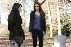 Still of Mia Kirshner and Nina Dobrev in The Vampire Diaries (2009)