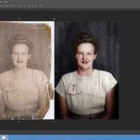 Timelapse mostra restauração e colorização de foto antiga