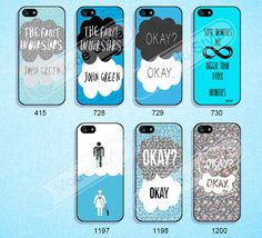 Phone cases, The Fault in Our Stars, iPhone 5C case, iPhone 5 case, iPhone 5S case, iPhone 4/4s case, Samsung Galaxy S3 \S4 Case--M34 on Etsy, $8.99