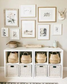 Beautiful way to not only organize your photos, but shoes or toys as well. I am … – Farmhouse Decoration – einrichtungsideen wohnzimmer Decor, Home Diy, Room Inspiration, Interior, Diy Home Decor, Home Decor, House Interior, Room Decor, Home Deco