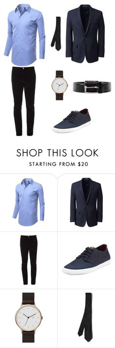 """Untitled #4"" by emirdelic ❤ liked on Polyvore featuring Lands' End, Gucci, Ben Sherman, Valentino, Prada, men's fashion и menswear"