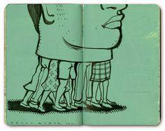 Seis ilustradores y sus sketchbooks Bryce Wymer