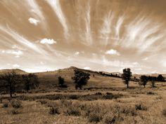 """Sage and Sky"" digital photograph. By Cris Fulton, Bowman, North Dakota, 2012."