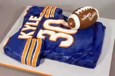 cake ideas. this would be Awesome. an eagkes jersey though