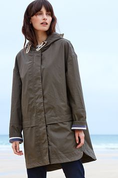 Waterproof, Square Sail Ripstop Cotton Tin Cloth Coat - Seasalt