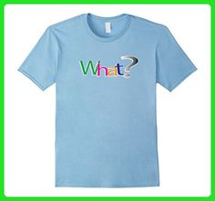 Mens What? Tshirt Multi-color Question Mark Journalists Students Small Baby Blue - Careers professions shirts (*Amazon Partner-Link)