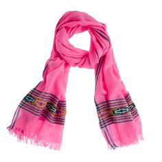 """J. Crew Crossed Lines Scarf Add a brilliant pop of color with our gauzy scarf, woven in lush but airy wool. Wool. 80""""L x 25""""W. Dry clean. Import. New without Tags. J. Crew Accessories Scarves & Wraps"""