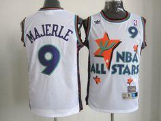 Adidas NBA 1995 All Star Phoenix Suns 9 Dan Majerle Throwback Swingman White Jersey