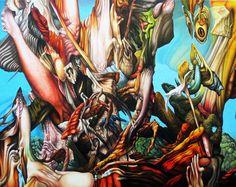 Exposition Bernard Dumaine - Séries - dessins/peintures - Art'86 - Galerie Rivaud