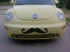 AutoMoStache A mustache for your car by AutoMoStache on Etsy, $20.00  this is too funny - I wonder if I could talk my son into doing it?
