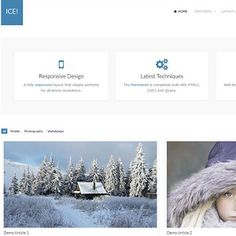Make a perfect first impression with this Joomla template designed for anyone who likes clean designs such as design studios, business consultants, . Web Project, Design Studios, Clean Design, Startups, Software Development, Extensions, Layouts, Ice, Templates