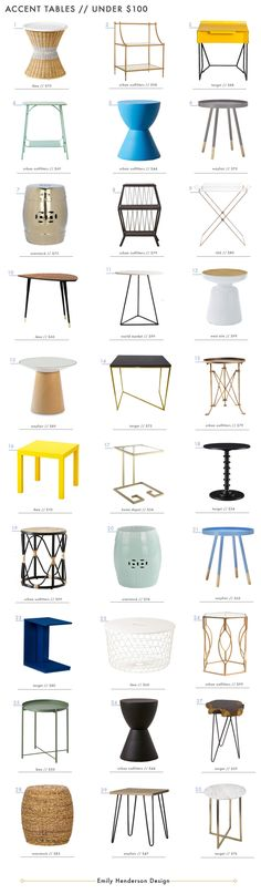 30 Accent Tables Under $100