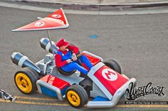 @SelfMadeRyan whippin the custom life-size Mario Kart! #MarioKart #SuperMario #CustomCars #WestCoastCustoms