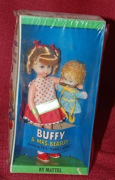 Vintage Mod Buffy & Mrs. Beasley NRFB Mint 1967 #3577 Wrist Tag Barbie Doll  #Dolls