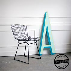 Mid Century Large Vintage  Inspired Sign Letter A  by EdiesLab, $125.00