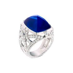 Devotion cabochon sapphire ring