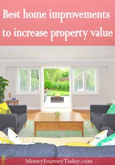 Whether you're looking for ways to get a better appraisal, attract better tenants or buyers, see which home improvements increase a home's value. Best Mortgage Rates Today, Home Appraisal, Property Values, Real Estate Tips, Diy Home Improvement, Investment Property, Frugal Living, Home Values, Home Buying